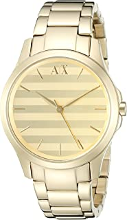 Armani Exchange Women's AX5231 Analog Display Analog Quartz Gold Watch