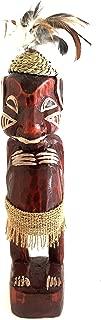 Lucky Money Tiki God Hand Carved Wood Tiki Art Statue African Decor, LARGE 16