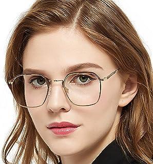 1ec15a45f00b OCCI CHIARI Women Eyewear Full-Rim Metal Non Prescription Clear Optical  Glasses