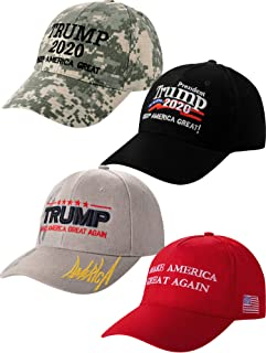 4 Pieces Trump 2020 Hat Donald Trump Cap Adjustable Baseball Hat America Bucket Hat for Men and Women (Style E)