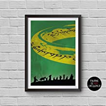 The Lord of the Rings Minimalist Poster Fellowship of the Ring Alternative Movie Print J.R.R. Tolkien Vintage Pop Culture and Modern Home Decor Cinema Poster Artwork Wall Art Wall Hanging Cool Gift