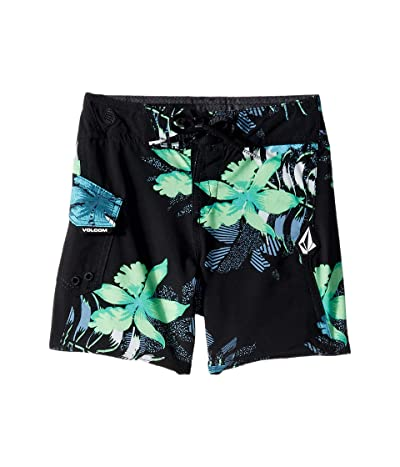 Volcom Kids Wave Fayer Mod Boardshorts (Toddler/Little Kids) (Black) Boy