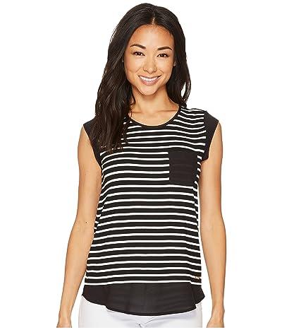 Calvin Klein T-Shirt with One-Pocket (Black/Birch) Women