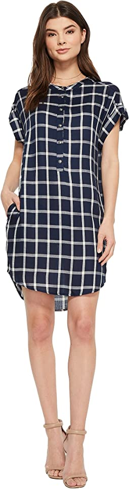 American Rose - Naya Short Sleeve Plaid Dress