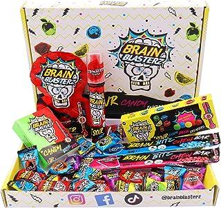 Brain Blasterz Sour Sweets Treat Box - Hard Zure Snoep, Brain Breakerz, Candy Spray, Brain Bitz, Kauwbars & Meer Zure Snoe...