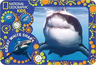 National Geographic Kids Super 3D Moving Animal Placemat, Great White Shark, Size 16.9 x 11.4
