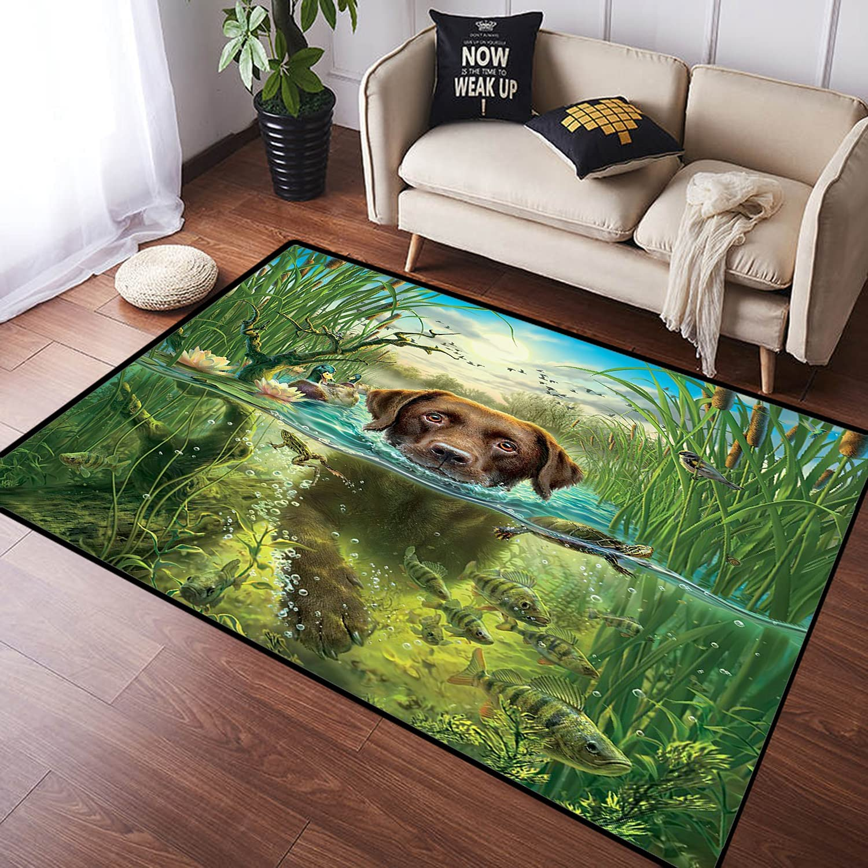 ZOMOY Long Floor Mat Carpet Retriever Chien Labrador Manufacturer OFFicial shop Saut Golden Discount mail order