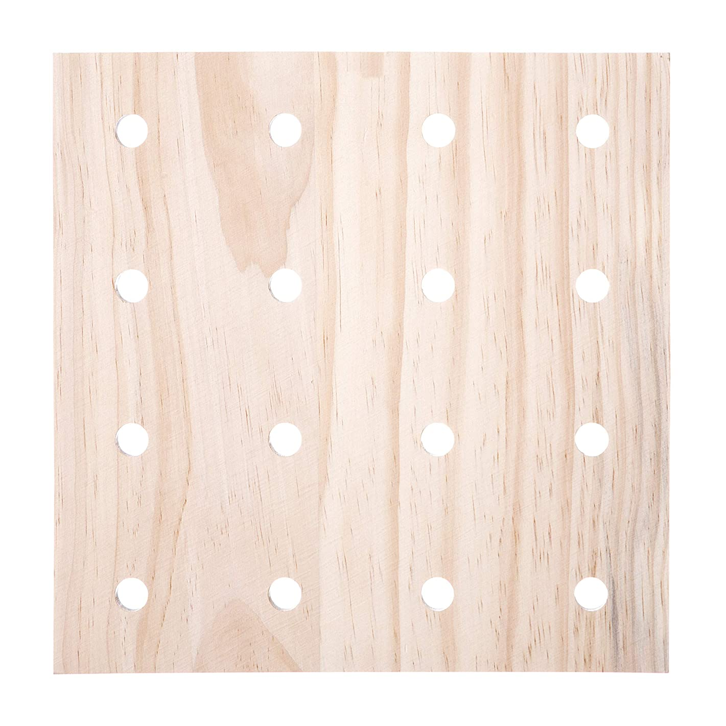 Darice 30053052 System: Wooden Pegboard Base, Unfinished, 12 x 12 Inches, Natural