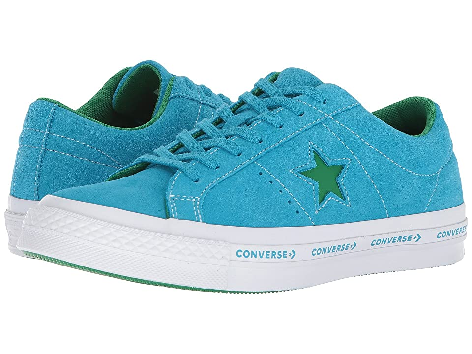 Converse One Star(r) Pinstripe Ox (Hawaiian Ocean/Jolly Green) Men