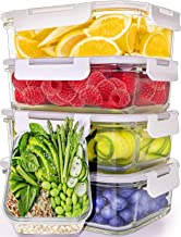 Prep Naturals Glass Meal Prep Containers (5 Pack, 30 Ounce) - Glass Food Storage Containers with Lids - Glass Storage Containers with Lids - Lunch Containers Airtight Food Prep Containers Bpa-Free