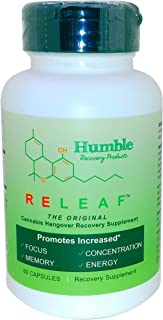 Humble Recovery Products   RELEAF (The Original Cannabis Hangover Recovery Supplement)   Increased Focus, Memory, Concentr...