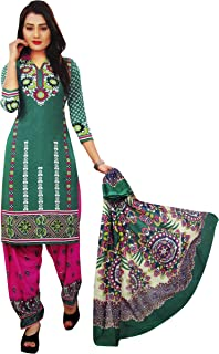 Pop Mantra Women's art silk a line Salwar Suit Set (71246D-EF_ Green_ Xxx-Large)