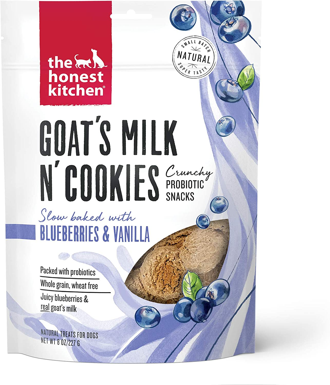 The Honest Kitchen Goat's Milk N' Cookies Crunchy Probiotic Snacks Natural Dog Treats, 8 oz. Bag
