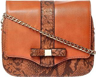 Yuejin Crossbody Bag for Women - Leather, Brown