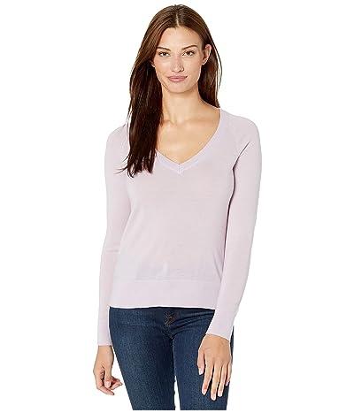Pendleton Merino V-Neck Pullover (Lavender Frost) Women