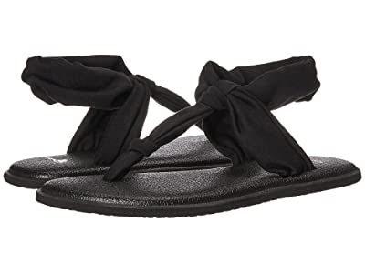 Sanuk Kids Lil Yoga Sling Ella (Little Kid/Big Kid) (Black) Girl