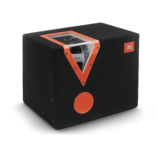 JBL Car CSX-1400BP 12 Zoll (300mm) Auto-Stereoanlage Bandpass Subwoofer mit Acryl-Fenster - Schwarz/Orange