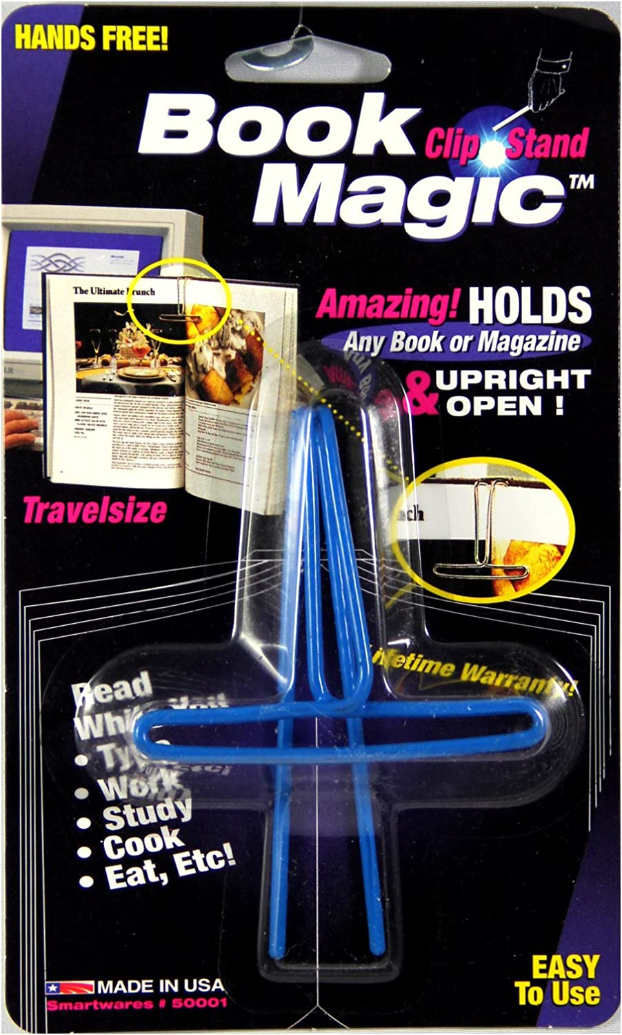 Ten Max 69% OFF Book Selling and selling Magic Holder Wire Holds Clip Books Pack Upright