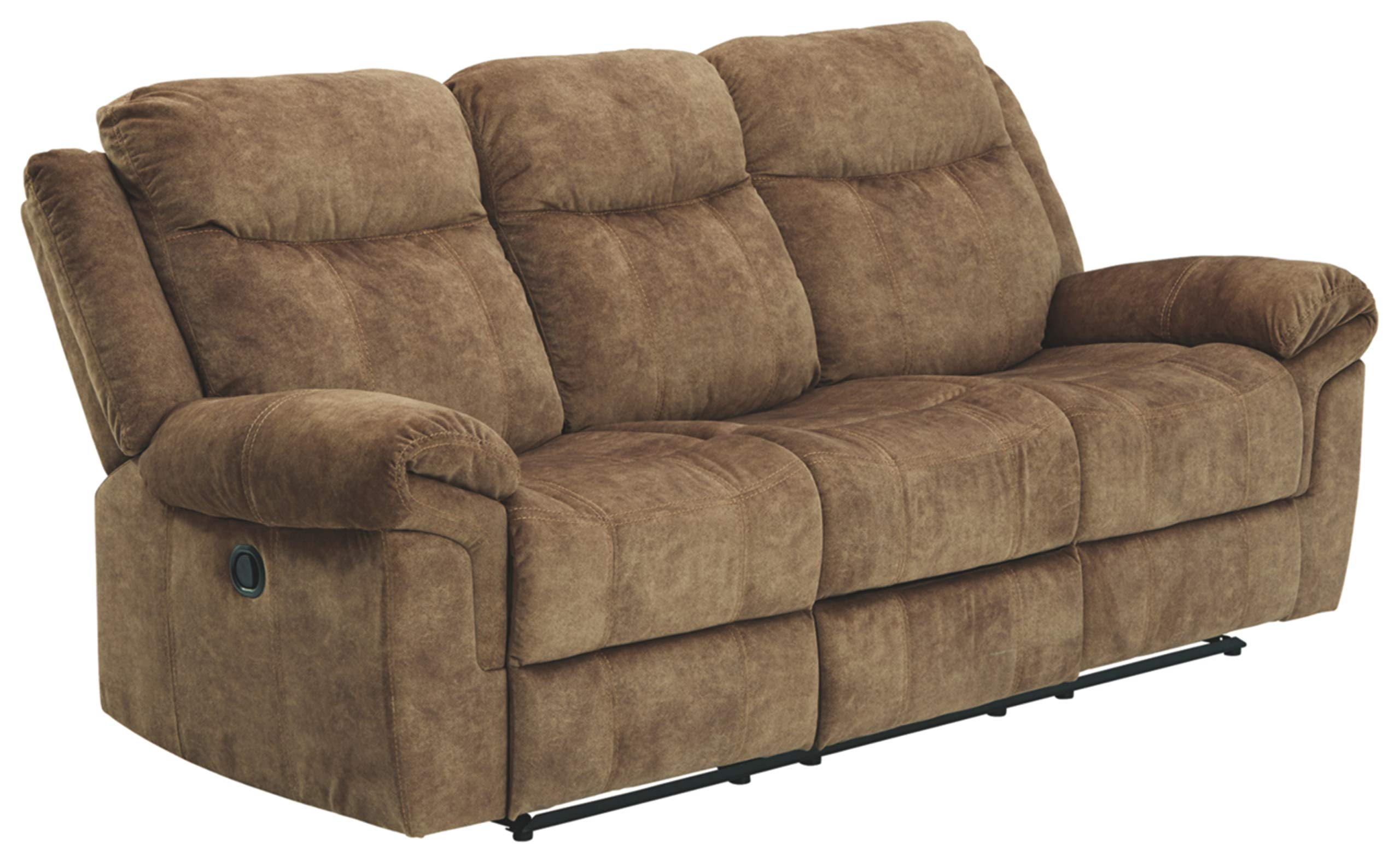 Signature Design by Ashley - Huddle-Up Casual Upholstered Reclining Sofa - Drop Down Table - Brown