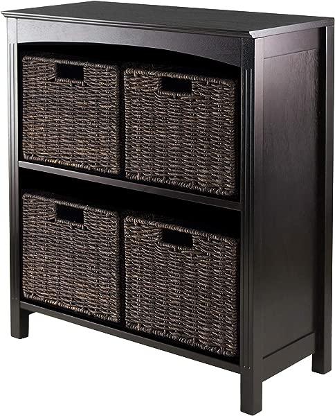Winsome Terrace 5 Piece Storage Shelf Bookcase 26 By 11 8 By 30 Inch
