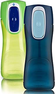 Contigo 康迪克 AUTOSEAL Trekker 水瓶 14盎司(414ml)Granny Smith & Nautical 2件装