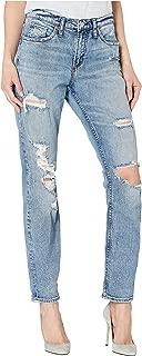 Silver Jeans Co. Women's Not Your Boyfriend's Mid Rise Jeans