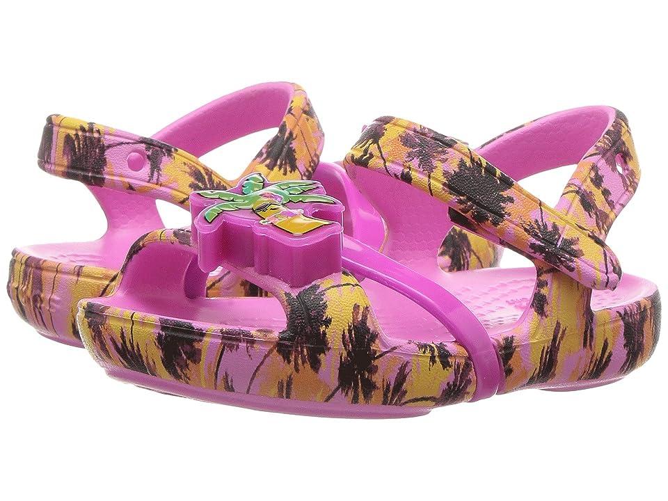 Crocs Kids Lina Lights Sandal (Toddler/Little Kid) (Party Pink) Girls Shoes