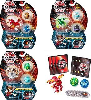 Bakugan, Starter Pack 3 personnages, Pyrus Phaedrus, Créatures transformables à collectionner, à partir de 6 ans