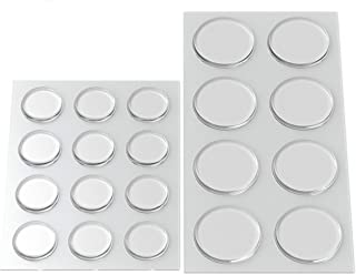 Best Round Clear Adhesive Bumpers Combo (Large, Medium) - Transparent Self Stick Rubber Pads for Glass Table Top, Furniture, Laptop, Mirrors - 20 PCs Review