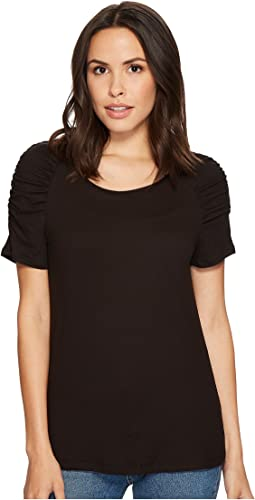 Thora Puff Sleeve Knit T-Shirt