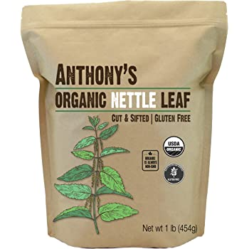 Anthony's Organic Nettle Leaf, 1 lb, Gluten Free, Non GMO, Cut & Sifted, Non Irradiated, Keto Friendly