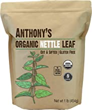 Anthony's Organic Nettle Leaf, 1lb, Gluten Free, Non GMO, Cut & Sifted, Non Irradiated, Keto Friendly