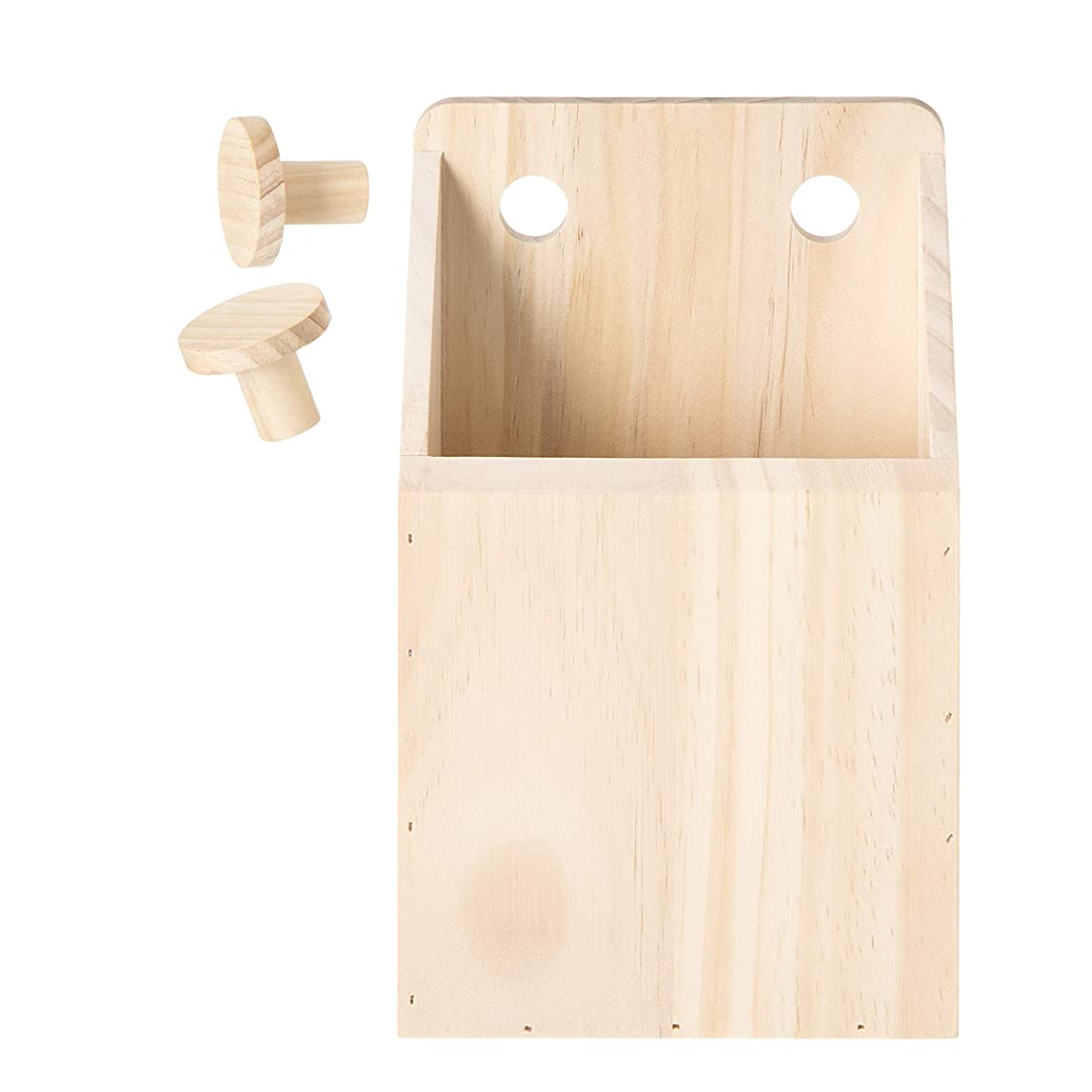 Darice 30053071 System: Wooden Pegboard Container, Unfinished, 5.5 x 8.75 Inches, Natural