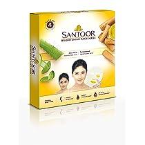 Santoor Brightening Sheet Mask Aloe & Sandal, Sandalwood, 17 ml, 4 Count