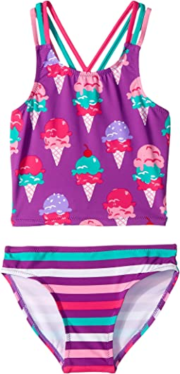 Ice Cream Treats Sporty Tankini Set (Toddler/Little Kids/Big Kids)