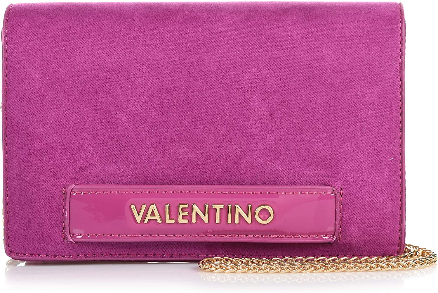 Mario Valentino Scoop Clutch with Removable gold Chain Strap