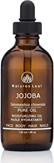 Natures Leaf Organic Golden Jojoba Oil 100% Pure Cold Pressed/non-GMO/Unrefined / Frizzy's, Split Ends, Beards, Lips, Cuticles, Brittle Nails, Acne, Fade Stretch Marks, Dry Skin