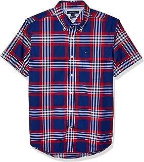 Men's Woven Button Doown Short Sleeve Shirt