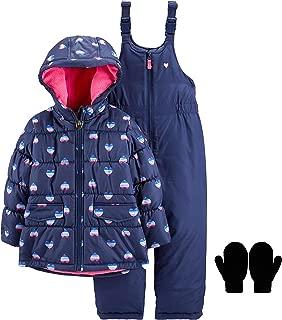 OshKosh Girls Winter Snowsuit Winter Coat Snow Bib Pants Mittens or Gloves
