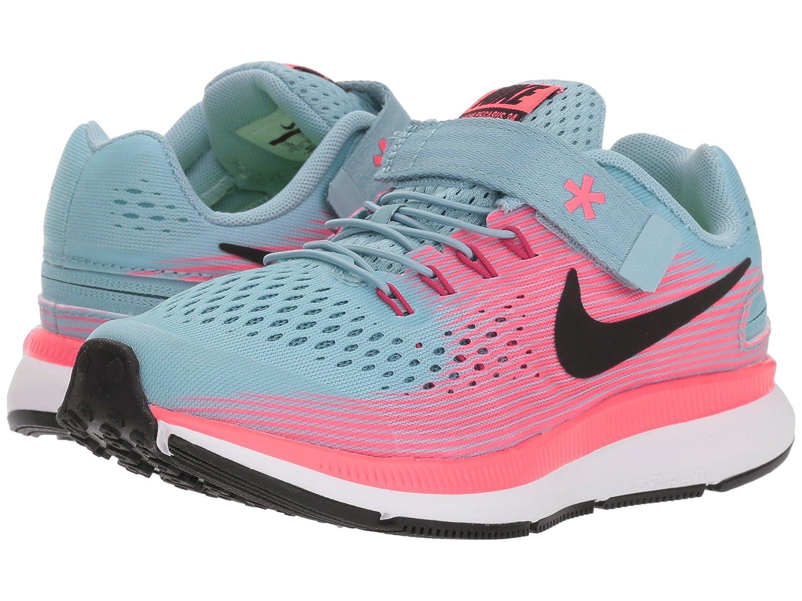 Nike Kids Zoom Pegasus 34 FlyEase WIDE (Little Kid/Big Kid)Atmospheric grades have affordable shoes