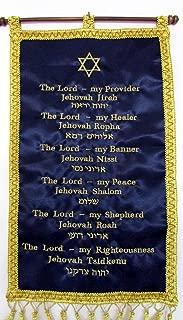 Names of God Banner Hebrew English and Star of David 19