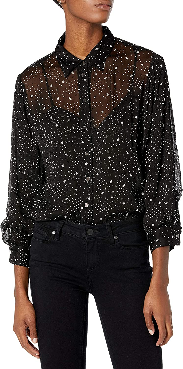 The Kooples Women's Relaxed, Long-Sleeved Button-Down Blouse, BLA01, 3