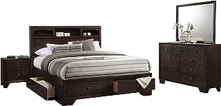 Acme Madison II 4-Piece Queen Bedroom Set, Espresso
