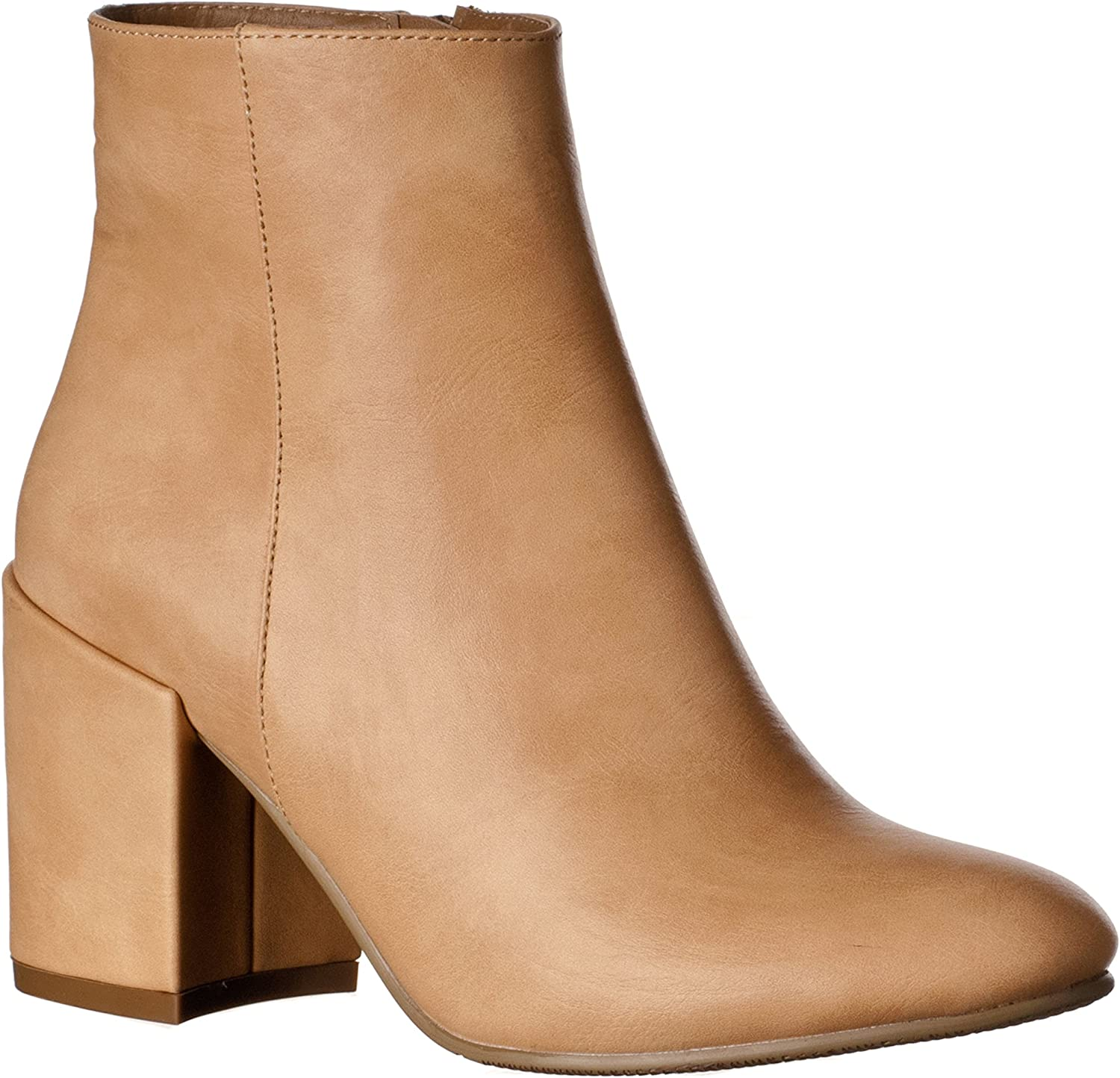Riverberry Women's Tori Chunky, High Heel Ankle Bootie Boots