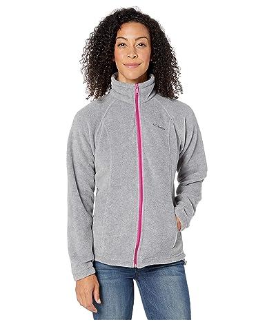 Columbia Benton Springstm Full Zip (Light Grey Heather/Fuchsia) Women