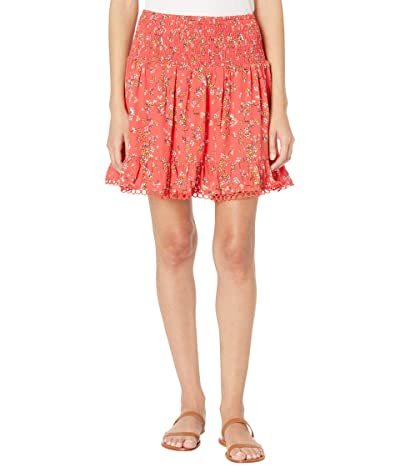 LOST + WANDER Everyday Adventures Miniskirt (Red/Orange Coral Floral) Women