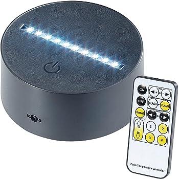 Lunartec Zubehor Zu Led Lichtsockel 3d Hologramm Lampe Fur Austauschbare 3d Leuchtmotive 7 Farbig Usb Effektleuchten Amazon De Beleuchtung