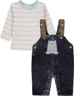 Kanz Set Aus Latzhose Und Langarmshirt Pantalón para Bebés