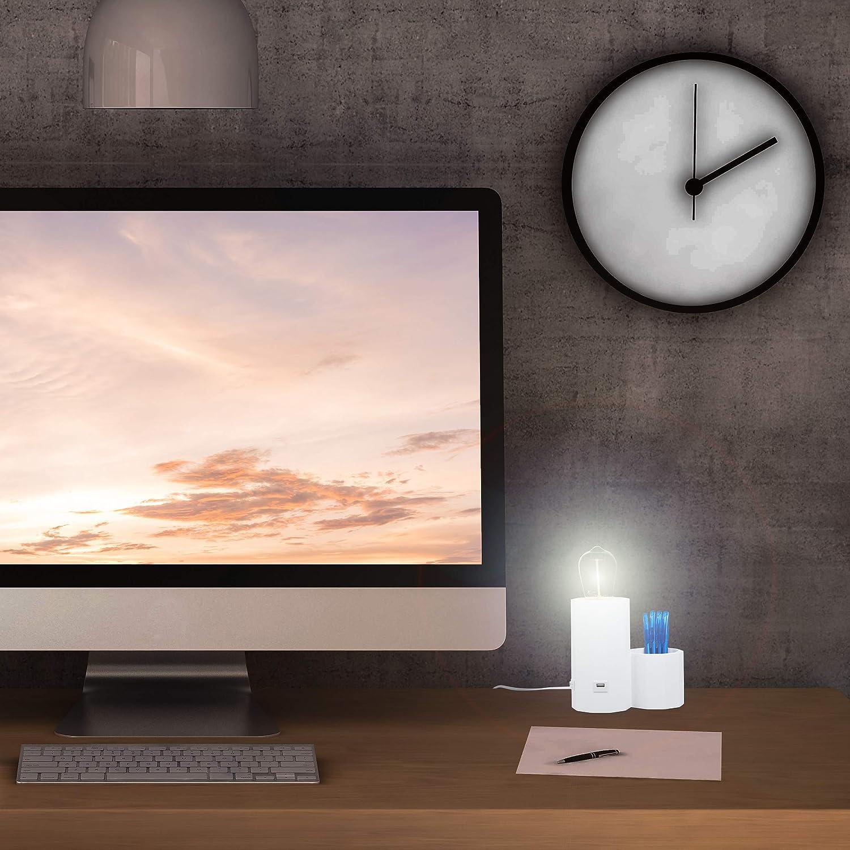 Wei/ß Schreibtischlampen Relaxdays 10028032/_49