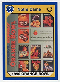 1990-56th Orange Bowl (Football Card) 1990 Notre Dame Collegiate Collection # 56 NM/MT